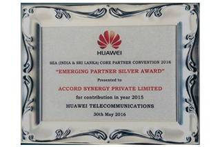 EMERGING PARTNER  AWARD IN 2016 FROM HUAWEI